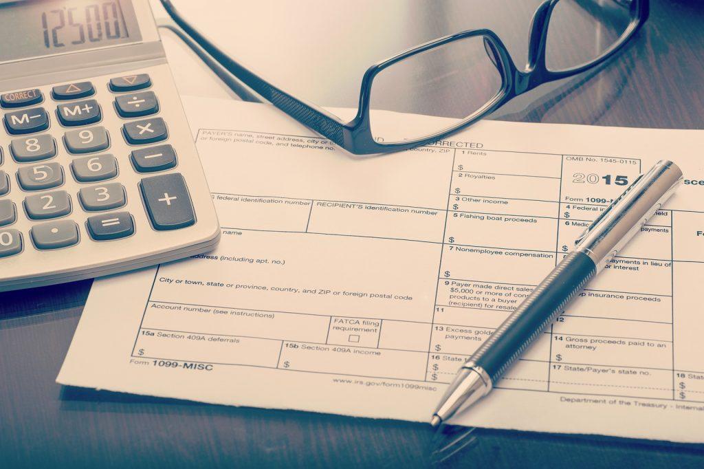Miscellaneous Income Form On Desk
