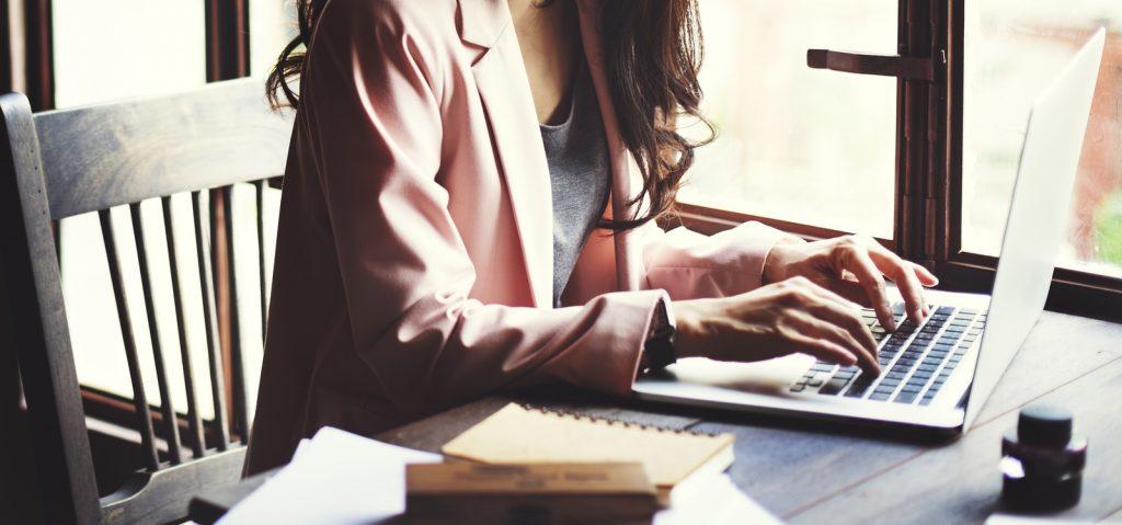 Businesswoman Secretary Reading Book Story Concept